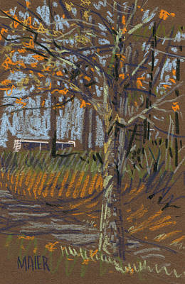 Landscape Drawing - Turning Leaves by Donald Maier