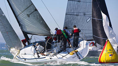 Photograph - Turning Upwind by Steven Lapkin