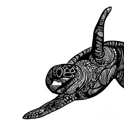 Turtle Print by HD Connelly