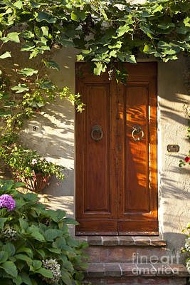 Photograph - Tuscan Door by Brian Jannsen