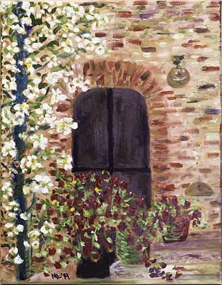 Painting - Tuscan Door by Mary LaFever