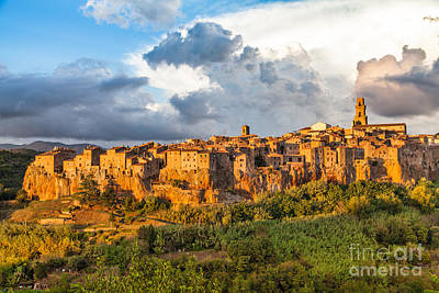 Medieval Photograph - Tuscany Sunset by JR Photography