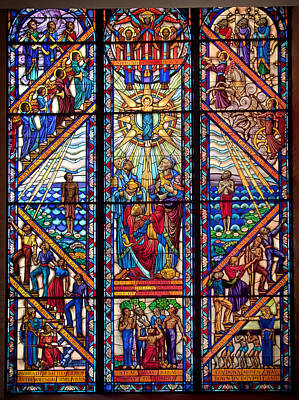 Glass Art Photograph - Tuskegee Chapel Stained Glass by Mountain Dreams