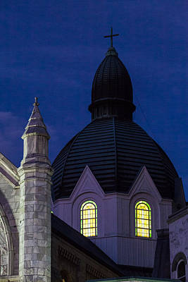 Photograph - Twilight At Sacred Heart  by Ed Gleichman