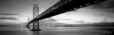 Illuminated Photograph - Twilight, Bay Bridge, San Francisco by Panoramic Images