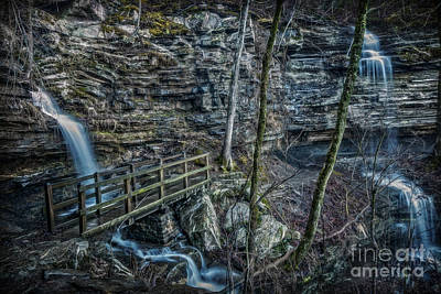 Photograph - Twin Falls by Larry McMahon