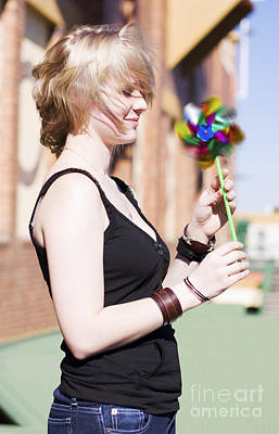 Teenagers Photograph - Twirling Toy Turbine by Jorgo Photography - Wall Art Gallery