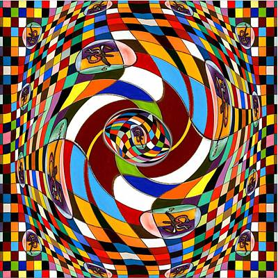 #1 Twisted Combination Art Print by George Curington