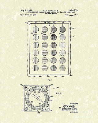 Game 1969 Patent Art Art Print by Prior Art Design