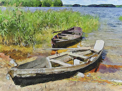 Two Boats Art Print by Yury Malkov