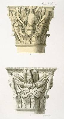 Two Column Capitals Art Print by .