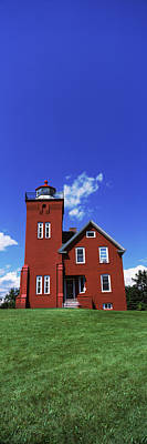 Lake Superior Lighthouse Photograph - Two Harbors Lighthouse On Lake by Panoramic Images