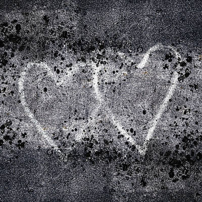 Affection Photograph - Two Hearts Graffiti Love by Carol Leigh
