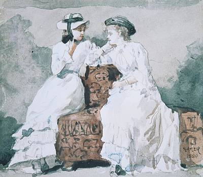 Two Ladies Print by Celestial Images