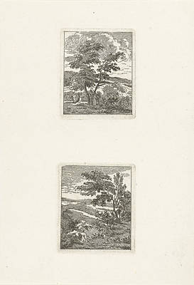 Deciduous Drawing - Two Landscapes, Jan Matthias Cok by Jan Matthias Cok