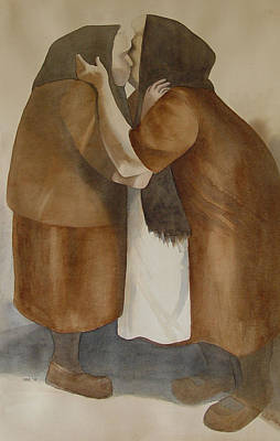 Two Old Friends Art Print by Sarah Buell  Dowling