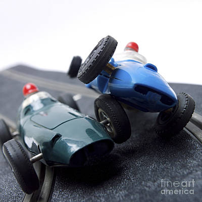 Racecars Photograph - Two Racecars by Bernard Jaubert
