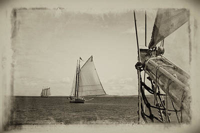 Photograph - Two Schooners by Mikael Carstanjen