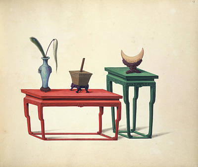 Illustration Technique Photograph - Two Tables by British Library