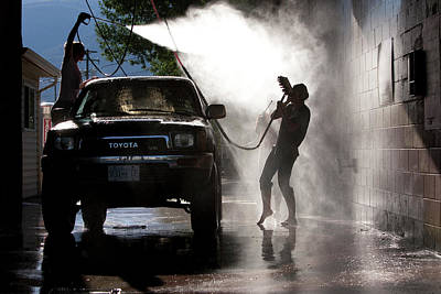 Other Automobiles Photograph - Two Teenage Girls Turn The Chore by Craig Pulsifer