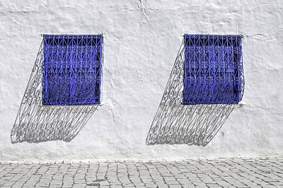 Sidi Bou Said Photograph - Two Windows by Maria Coulson