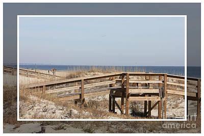 Tybee Island Photograph - Tybee Island Boardwalks by Carol Groenen