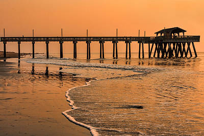 Beers On Tap - Tybee Pier Sunrise by Diana Powell