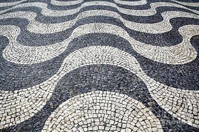 Cobblestone Photograph - Typical Portuguese Handmade Cobblestone Pavement by Jose Elias - Sofia Pereira