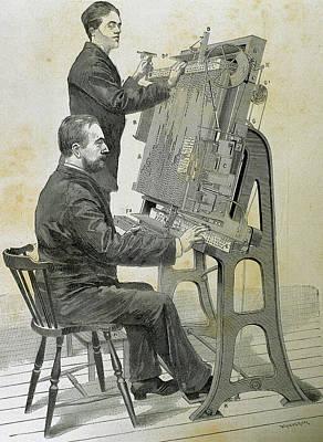 Typographic Photograph - Typographic Composing New Machine by Prisma Archivo