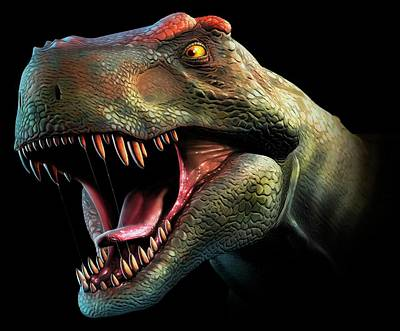 Tyrannosaurus Rex Head Study Art Print by Mark Garlick