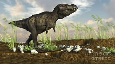 Keith Richards - Tyrannosaurus Rex Walking Across Desert by Kostyantyn Ivanyshen