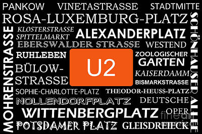 U Bahn Metro U2 Berlin Art Print by Art Photography