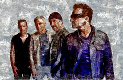 Bono Digital Art - U2 Goup by Galeria Trompiz