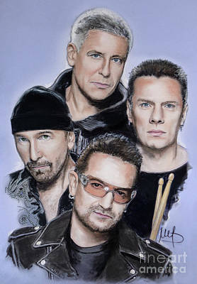 U2 Mixed Media - U2 by Melanie D