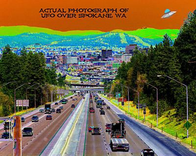 Photograph - Ufo Over Spokane by Ben Upham III