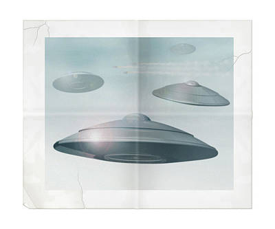 Digital Art - Ufo Sighting by James Larkin