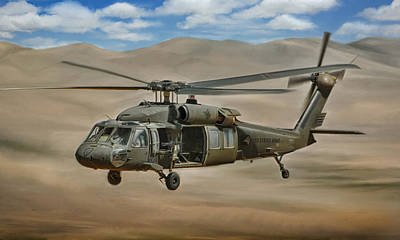 Uh-60 Blackhawk Art Print by Dale Jackson