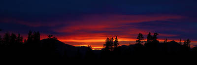 Photograph - Uinta Sunset by TL  Mair