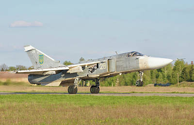 The Rolling Stones Royalty Free Images - Ukrainian Air Force Su-24 Aircraft Royalty-Free Image by Giovanni Colla
