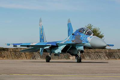 Photograph - Ukrainian Air Force Su-27ub Flanker by Timm Ziegenthaler