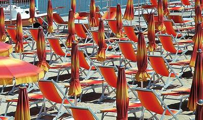 Photograph - Umbrella Symmetry 3 by Allen Beatty