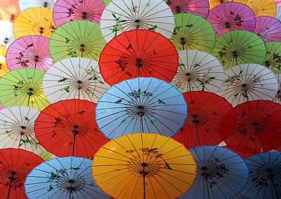 Wall Art - Photograph - Hanging Umbrellas by Mark Sullivan