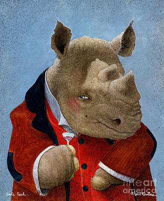 Rhino Painting - Uncle Cecil... by Will Bullas