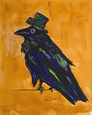 Painting - Uncommon Raven Love 4 by Dale Bernard