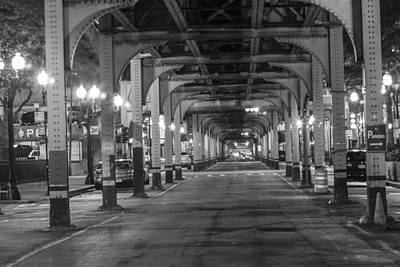 Under The El In Chicago  Art Print by John McGraw