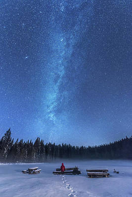 Milky Way Wall Art - Photograph - Under The Starry Night by Ales Krivec