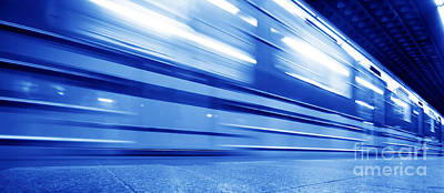 Backgrounds Photograph - Underground Train Dynamic Motion by Michal Bednarek