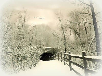 Snow Digital Art - Underhill Crossing by Jessica Jenney
