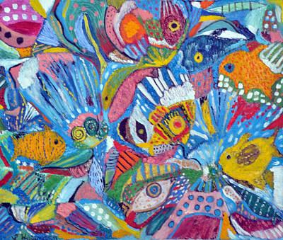 Underwater Explosion Art Print by Lynn Husemann