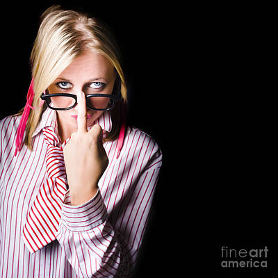 Unhappy Worker Sending A Unsolicited Message Art Print by Jorgo Photography - Wall Art Gallery